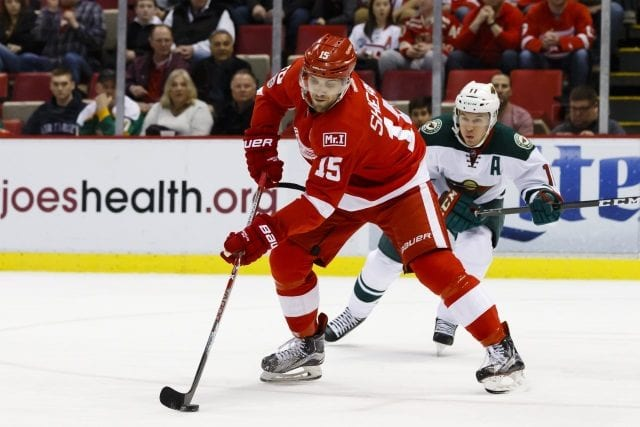Riley Sheahan could be one potential trade chip for the Detroit Red Wings