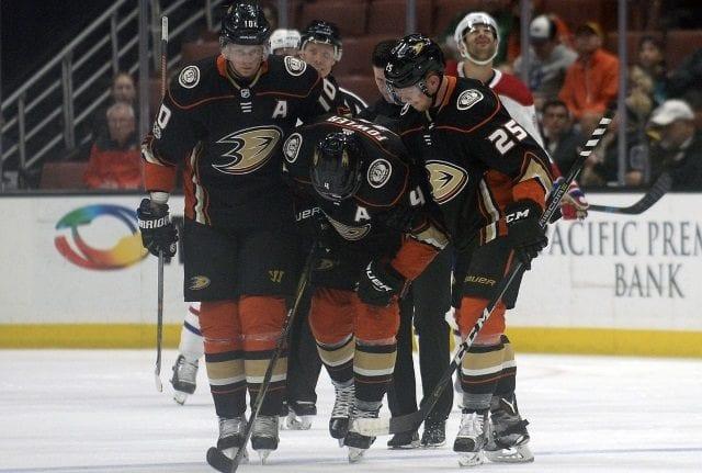 Anaheim Ducks defenseman Cam Fowler injured his knee last night