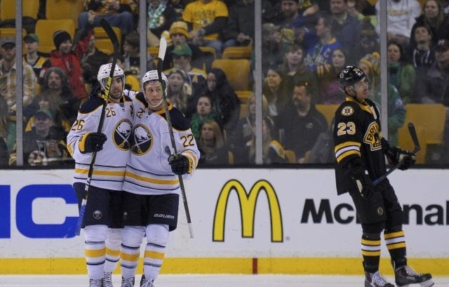 The Buffalo Sabres could be making Matt Moulson and Johan Larsson available for trade.