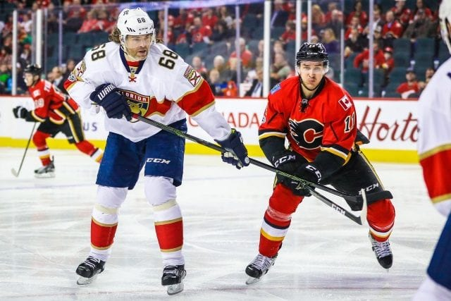 Jaromir Jagr and the Calgary Flames are talking contract