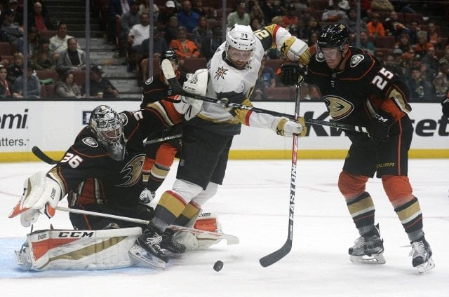 Both John Gibson and Ondrej Kase left last night's Anaheim Ducks game early