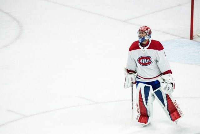 Montreal Canadiens goaltender Carey Price is out with a lower-body injury.