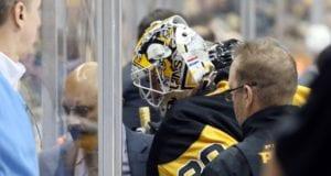 Pittsburgh Penguins goaltender Matt Murray injured last night