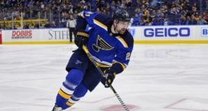 St. Louis Blues forward Patrik Berglund made his season debut last night