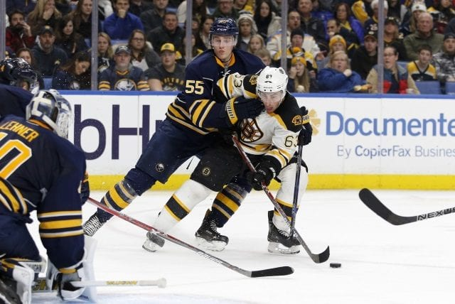 Brad Marchand and Rasmus Ristolainen