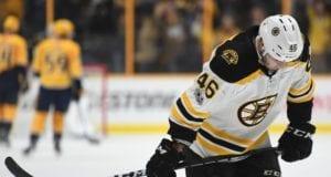 Bruins forward David Krejci out tonight