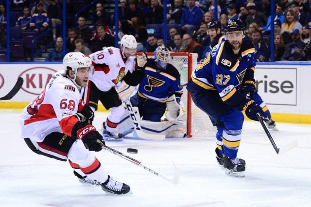 The St. Louis Blues and Carolina Hurricanes have been linked to Mike Hoffman.