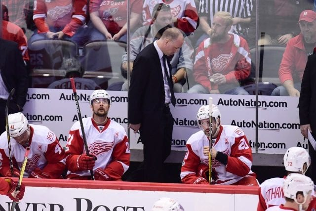 Detroit Red Wings coach Jeff Blashill on the hot seat