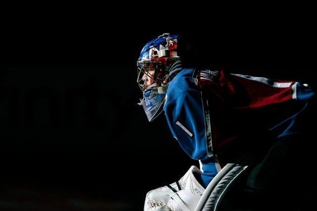 Semyon Varlamov left last night's game early.