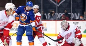 Jimmy Howard is among the player the Detroit Red Wings could look at moving. The NY Islanders could use a goalie