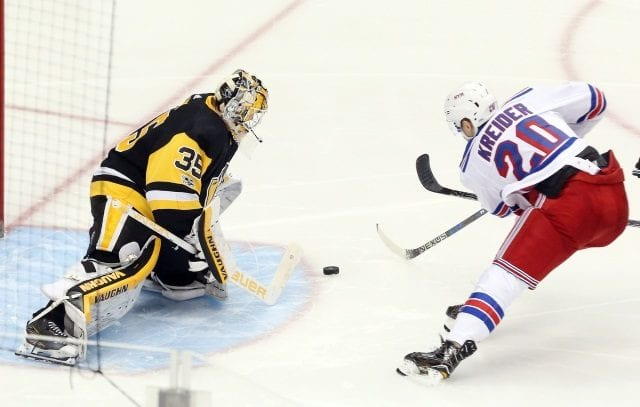 Chris Kreider cleared to get off blood thinners and hopes to practice today