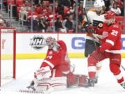 The Detroit Red Wings have traded Petr Mrazek to the Philadelphia Flyers.