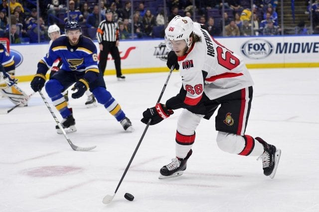 The St. Louis Blues and Ottawa Senators could be talking about Mike Hoffman and Derick Brassard.