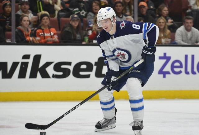Winnipeg Jets Jacob Trouba back on the ice