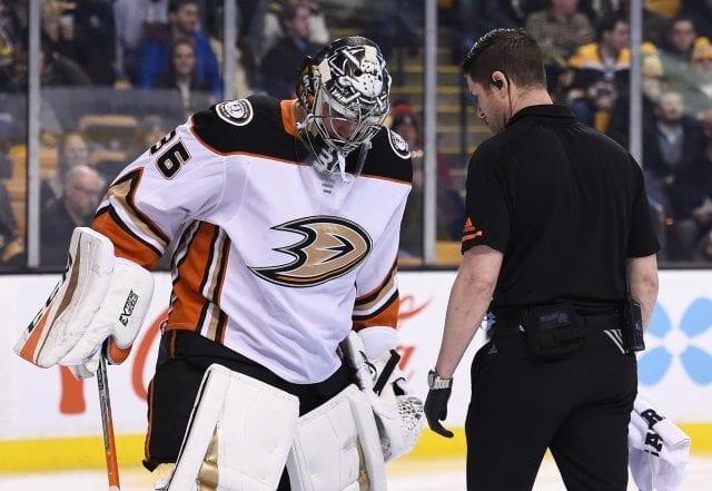 The Anaheim Ducks put John Gibson on the IR