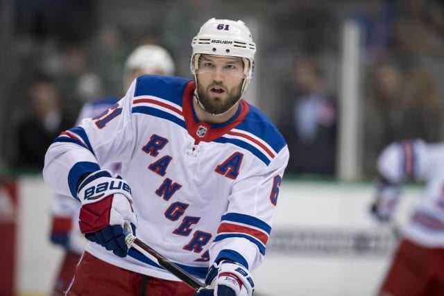 The New York Rangers have asked Rick Nash for a list of teams that he won't accept a trade too.