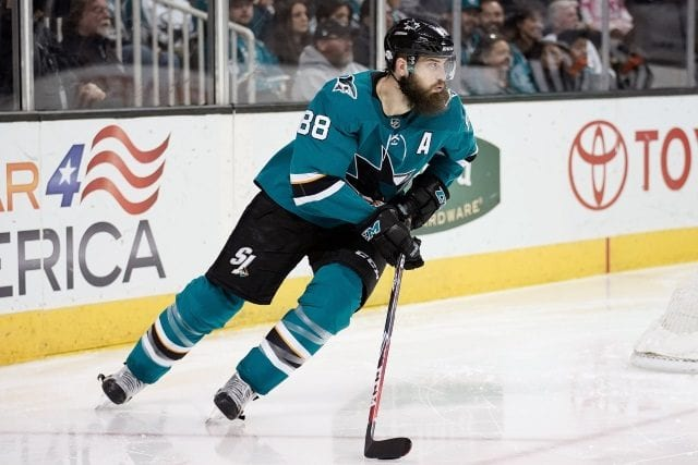 Brent Burns leaves with undisclosed injury