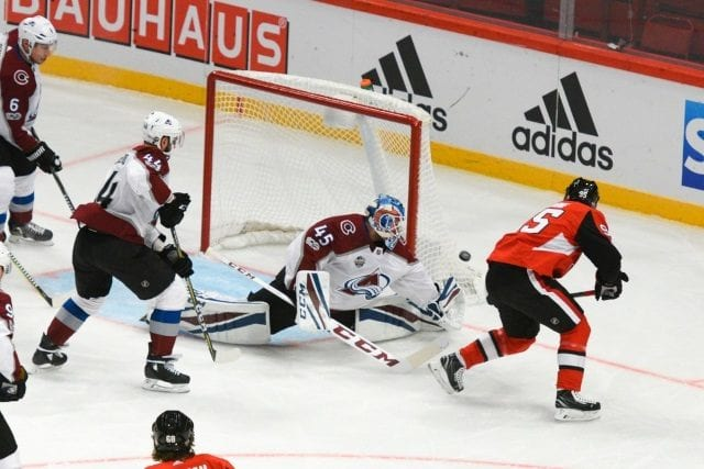 The Ottawa Senators owe the Colorado Avalanche a first-round this year or next. It may not be an easy as decision as one might think.