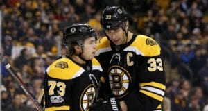 Zdeno Chara and Charlie McAvoy are skating back in Boston