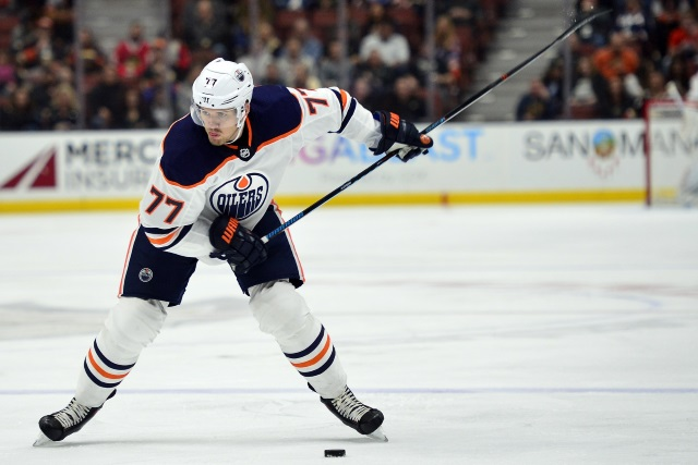 Are the Edmonton Oilers showcasing Oscar Klefbom despite a possible shoulder injury?