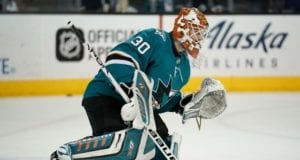 The San Jose Sharks re-signed Aaron Dell to a two-year deal