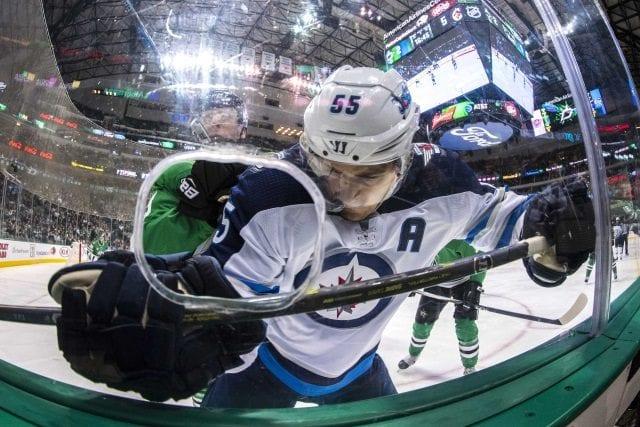 Winnipeg Jets forward Mark Scheifele suffered an upper-body injury last night.