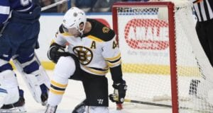 David Backes required about 18 stitches to close up a large cut