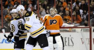 Bruins Zdeno Chara and Torey Krug left in the third period last night.