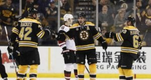No timetable on Patrice Bergeron's return. David Backes out at least a couple games.