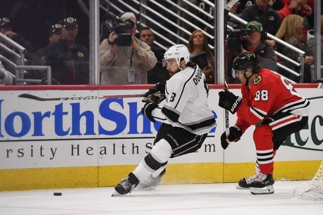 Drew Doughty is eligible to sign a big contract after this season. Anthony Duclair hopes to remain with the Chicago Blackhawks