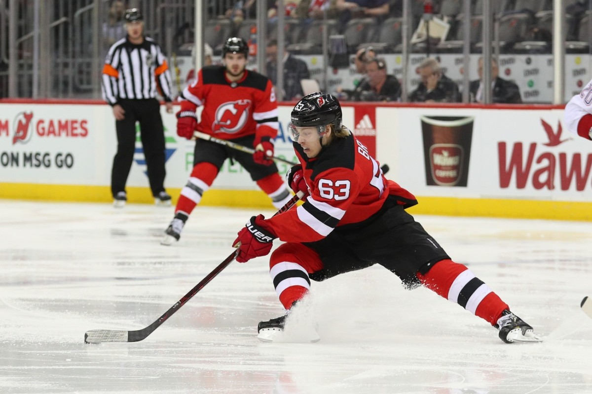 Devils agree to deal with RFA Jesper Bratt. Blue Jackets sign Michael Del Zotto. Ducks bring in Ben Hutton on a PTO. Players on waivers.