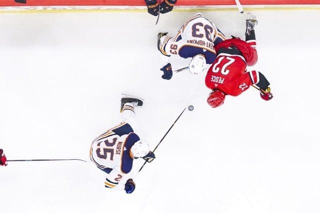 Edmonton Oilers Darnell Nurse and Ryan Nugent-Hopkins