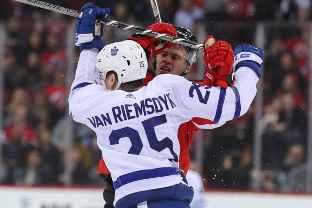 James van Riemsdyk wants to remain with the Maple Leafs.