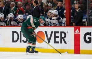 Red miss Josh Morrissey cross checking Eric Staal in the head.