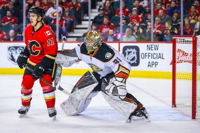 The Calgary Flames and Anaheim Ducks talked Frederik Andersen back in 2016.