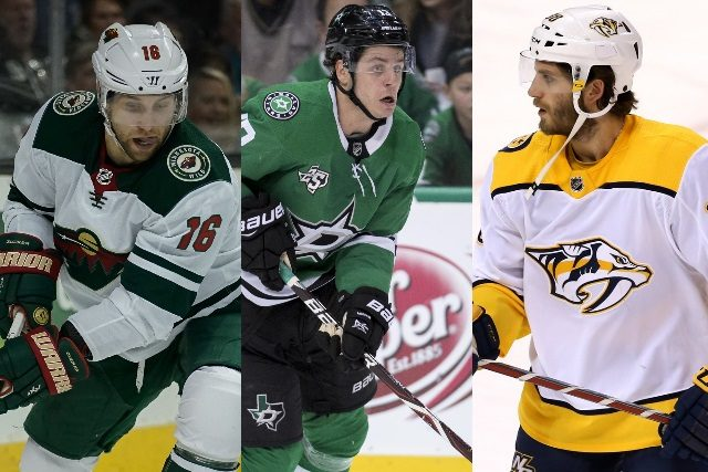 JJason Zucker, Mattias Janmark, and Ryan Hartman are three of the top pending 2018 restricted free agent forwards from the central division.