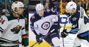 NHL restricted free agent defenseman Matt Dumba, Jacob Trouba and Josh Morrissey