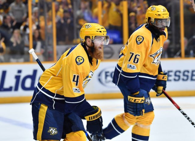 Nashville Predators Ryan Ellis and P.K. Subban