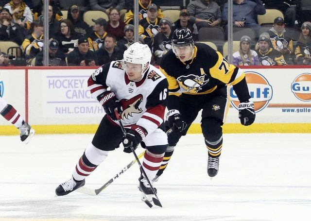 The Pittsburgh Penguins have some interest in Arizona Coyotes forward Max Domi.