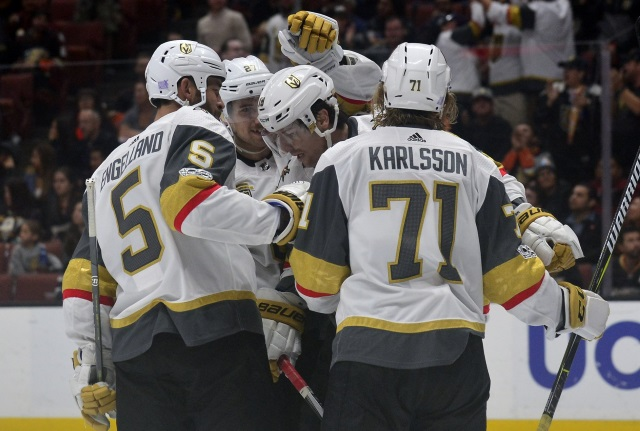 William Karlsson will be just one of the pending free agents that the Vegas Golden Knights will have to deal with this offseason.