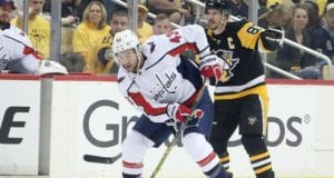 Washington Capitals Tom Wilson drawing the ire of the Pittsburgh Penguins again after a high hit on Zach Auston-Reese.