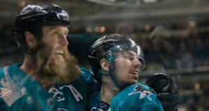 San Jose Sharks Joe Thornton and Logan Couture
