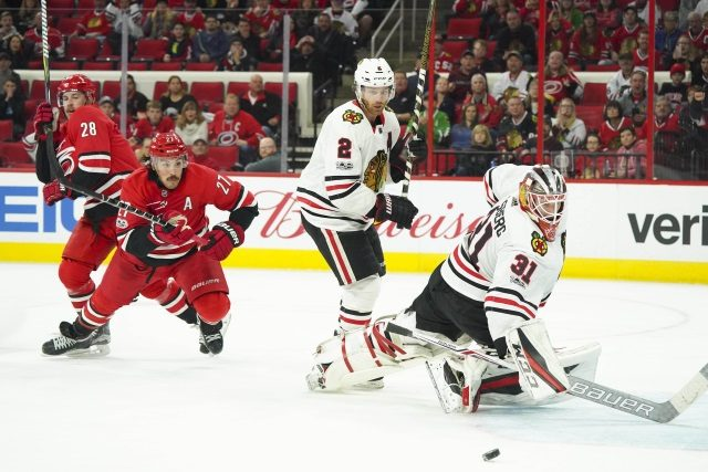 The Chicago Blackhawks could be interested in Justin Faulk, Carolina Hurricanes eyeing Brandon Saad?