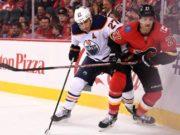 Edmonton Oilers Milan Lucic and Calgary Flames Dougie Hamilton