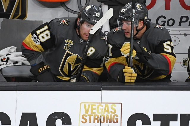 Vegas Golden Knights pending unrestricted free agent forwards James Neal and David Perron.