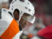 The Philadelphia Flyers haven't had any contract extension talks with Wayne Simmonds yet, but they plan on it.