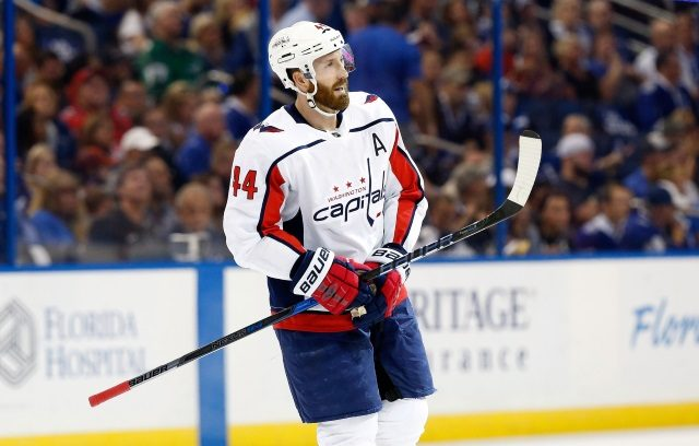 Washington Capitals defenseman Brooks Oprik is one of the many potential NHL buyout candidates. The buyout window opens later this week.
