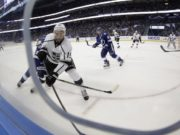 The LA Kings trade Andy Andreoff to the Tampa Bay Lightning for Peter Budaj
