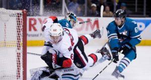 The Ottawa Senators trade Mike Hoffman to the San Jose Sharks.