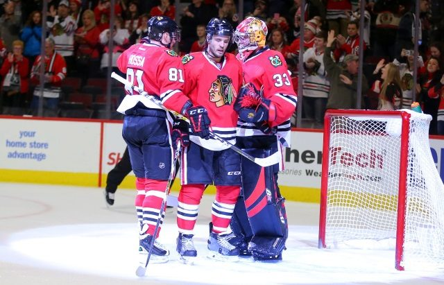 A trade involving Scott Darling and Marian Hossa might make sense.